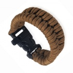Buckle Survival Bracelet with Whistle